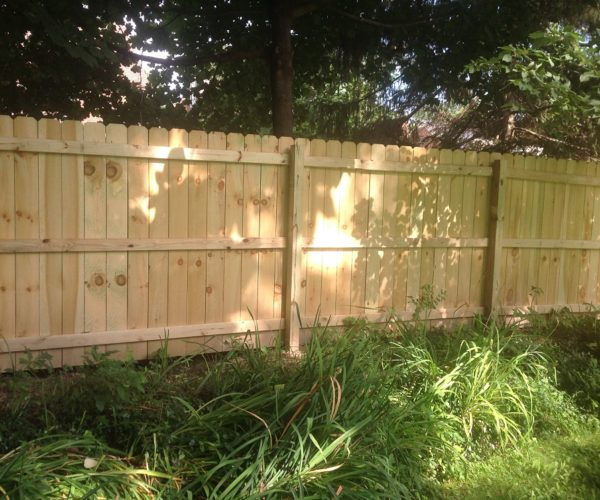 Solid Wood Board Privacy Fence