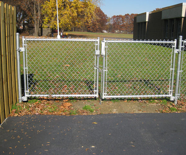 All Galvanized Chain Link Gate