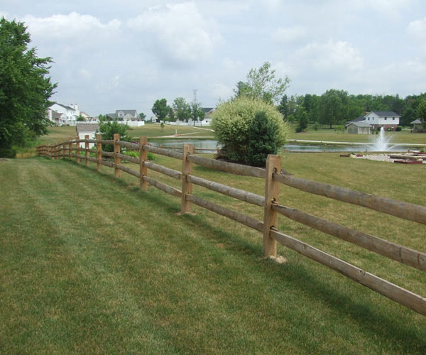 split rail fence installation