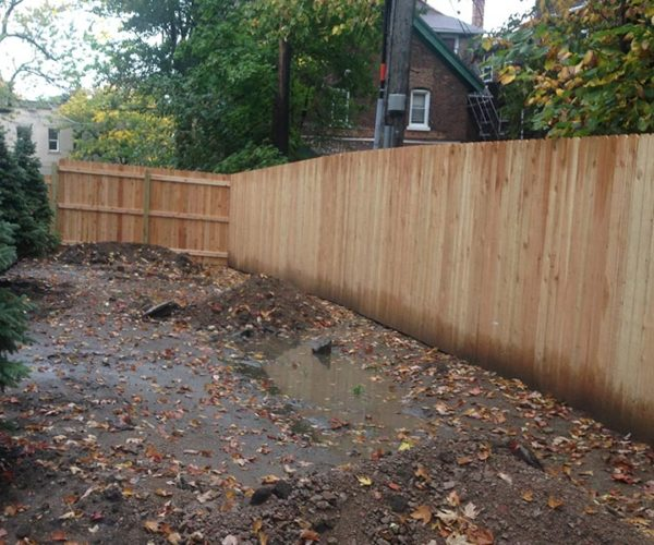 Solid Wood Panel Fence