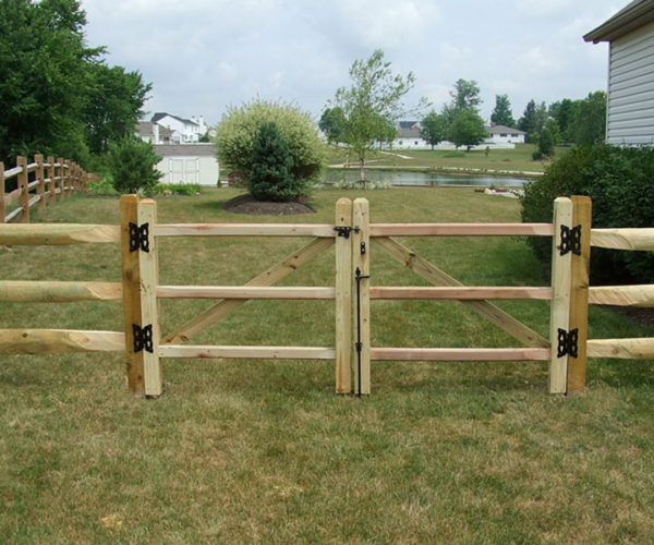 Wood-split-rail-gate