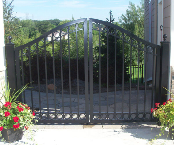 Aluminum Double Estate Gate