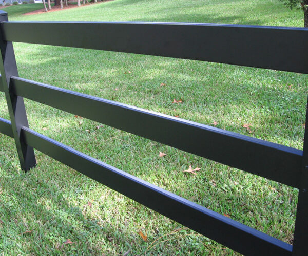 Aluminum Post and Rail Chariot Fence