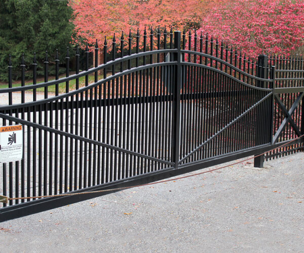 Arched Cantilever Gate with Finials