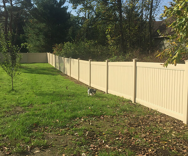 Almond Color Vinyl  4' high privacy fencing