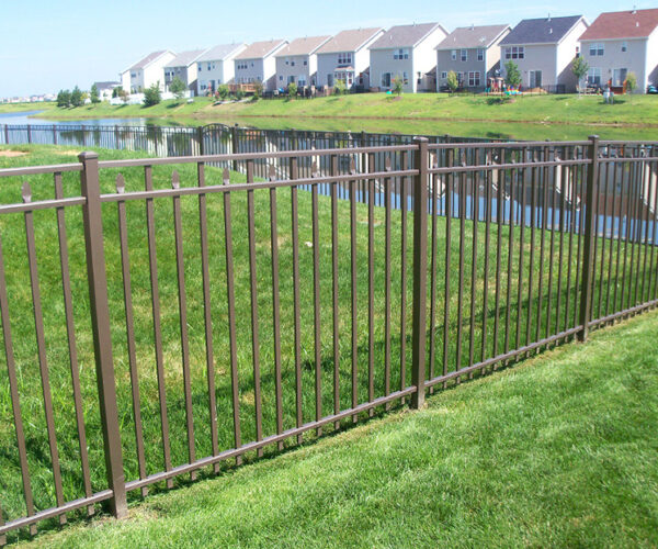 Light Bronze Windham Aluminum Fence