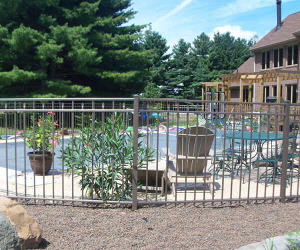 Light Bronze Windham Aluminum Pool Fence