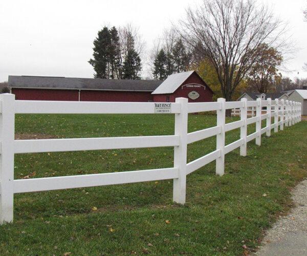 Vinyl Split Rail Fence